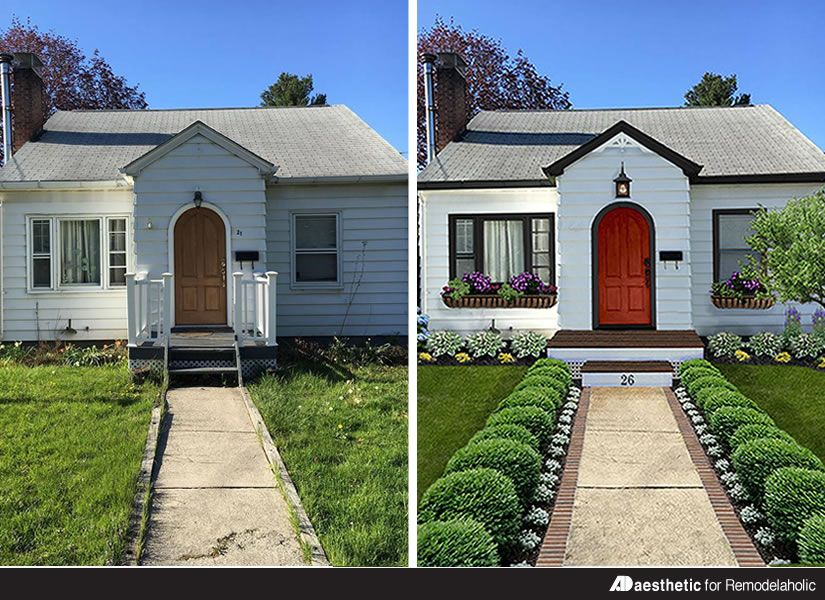 Virtual House Makeover real life homes: a cute cottage makeover | curb appeal, yards and