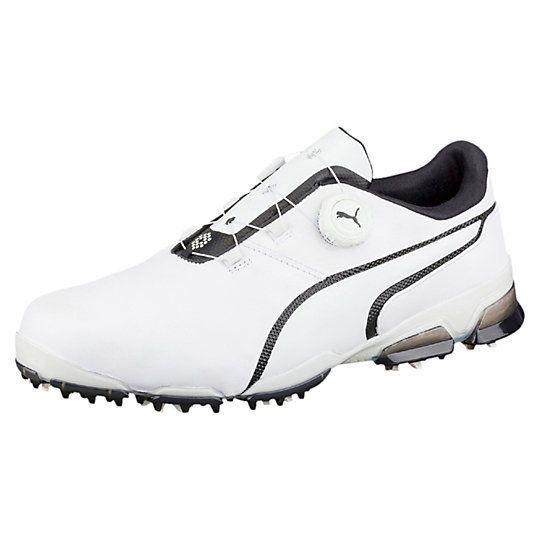 PUMA Men's Titantour Ignite Disc Golf Shoe, White Black, 13 Medium US