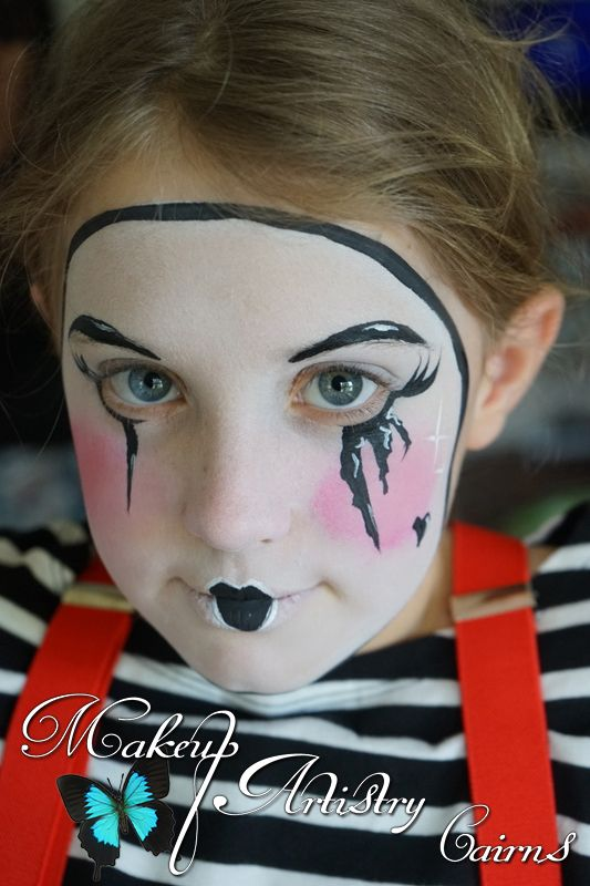 Mime Makeup Painted by http://makeupartistrycairns ❤