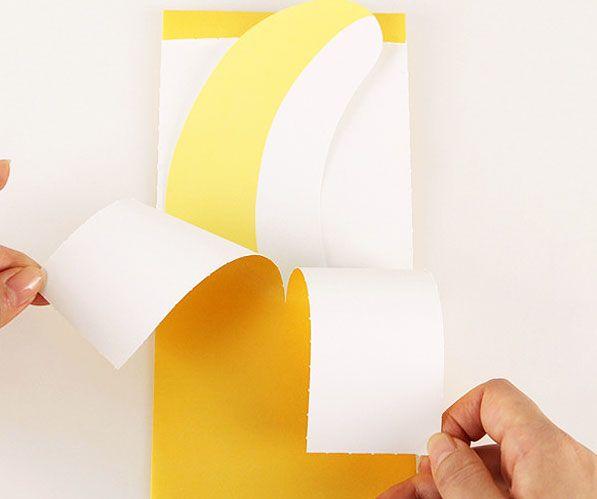 Peelable Banana Shaped Card