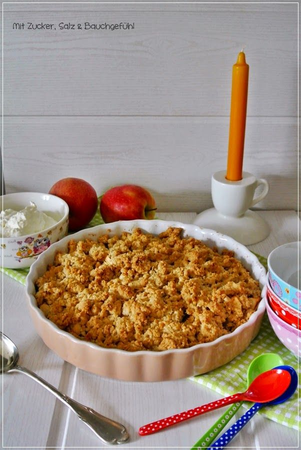mit zucker salz bauchgef hl apple crumble an apple a day pinterest backen kuchen und. Black Bedroom Furniture Sets. Home Design Ideas