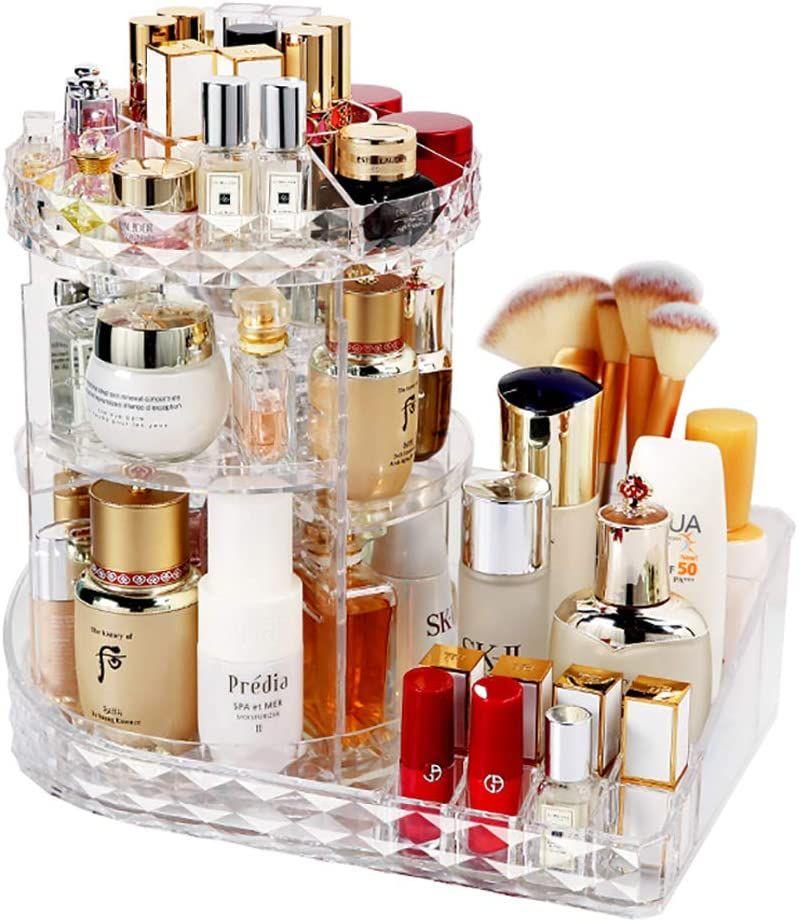 Lbla Make Up Organizer 360 Grad Drehbar Kosmetik Organizer 8 Schichten Schmink Aufbewahrungsbox Fur Dresse Kosmetik Box Kosmetik Aufbewahrung Make Up Organizer