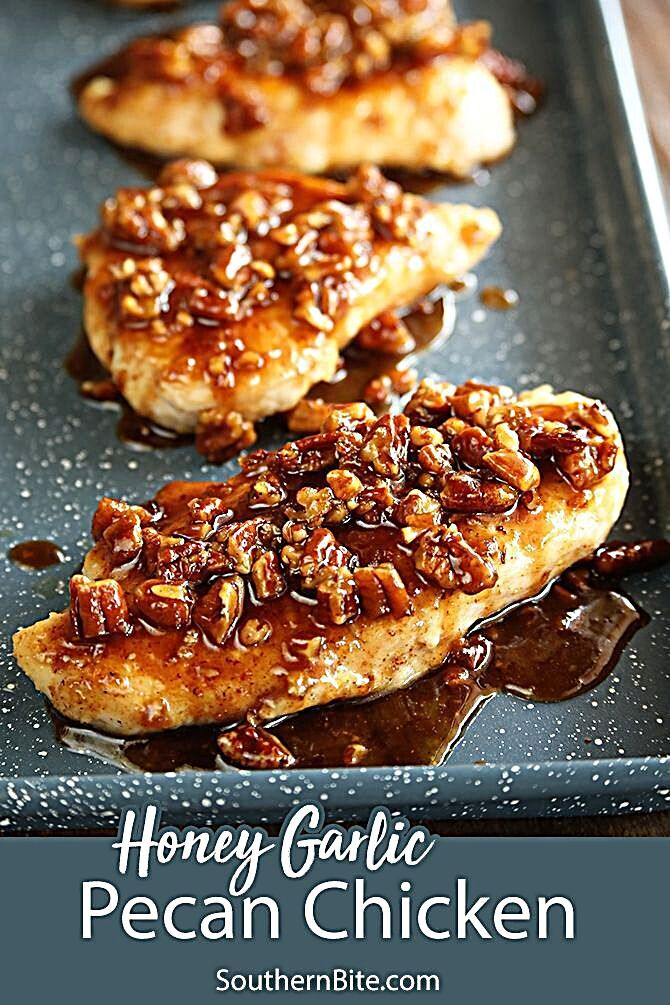 This recipe for Honey Garlic Pecan Chicken is impressive, but so easy.  It's perfect for a busy weeknight but fancy enough for company.  - When we're short on time but I still want to put a delicious home cooked meal on the table, I often turn to recipes that combine a simple pan-seared chicken breast with a flavorful sauce. #woadelish #foodforfoodies #foodwaste #fooddesign #foodinspo #foodsforfoodie #foodiehk #foodiesofinstagram #foodgasm #yummy #foodpornography #foodtalkindia #foodanddrink #fo