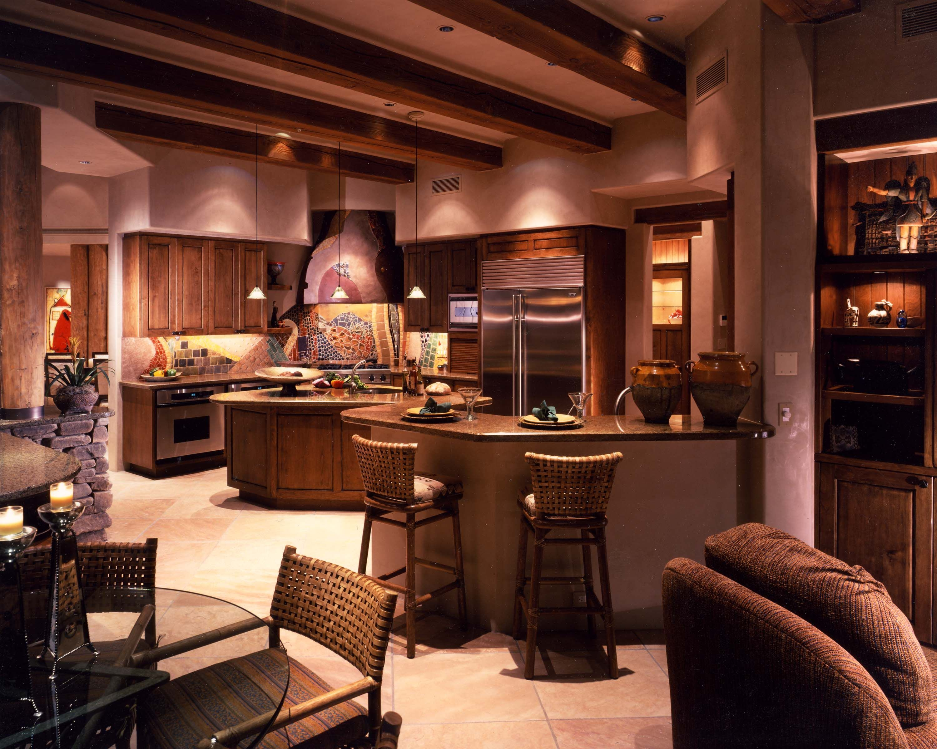 Beautiful southwest style kitchen great lighting new - Contemporary southwest home designs ...