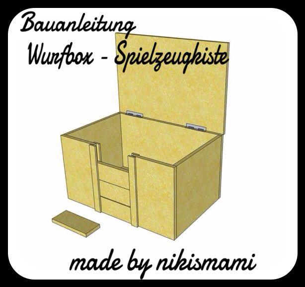 Bauanleitung Fur Eine Wurfbox Bzw Spielzeugkiste Bauanleitung Hundekorbchen Anleitungen