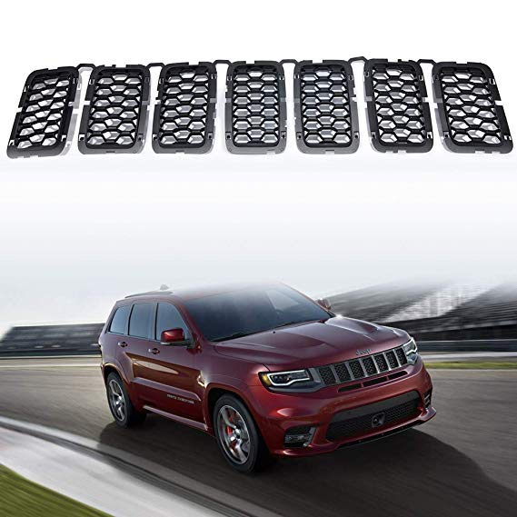 Amazon Com Yav 7pcs Black Grill Inserts For Jeep Grand Cherokee