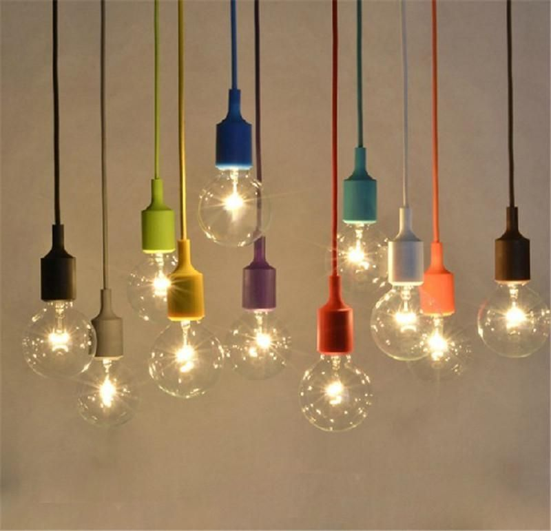 Muuto Pendent Light Multicolour Silica Gel Lamp Holder Colors - Kitchen ceiling light bulbs