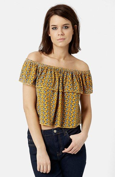 6c89014a346b60 Topshop Paisley Off the Shoulder Top available at  Nordstrom ...