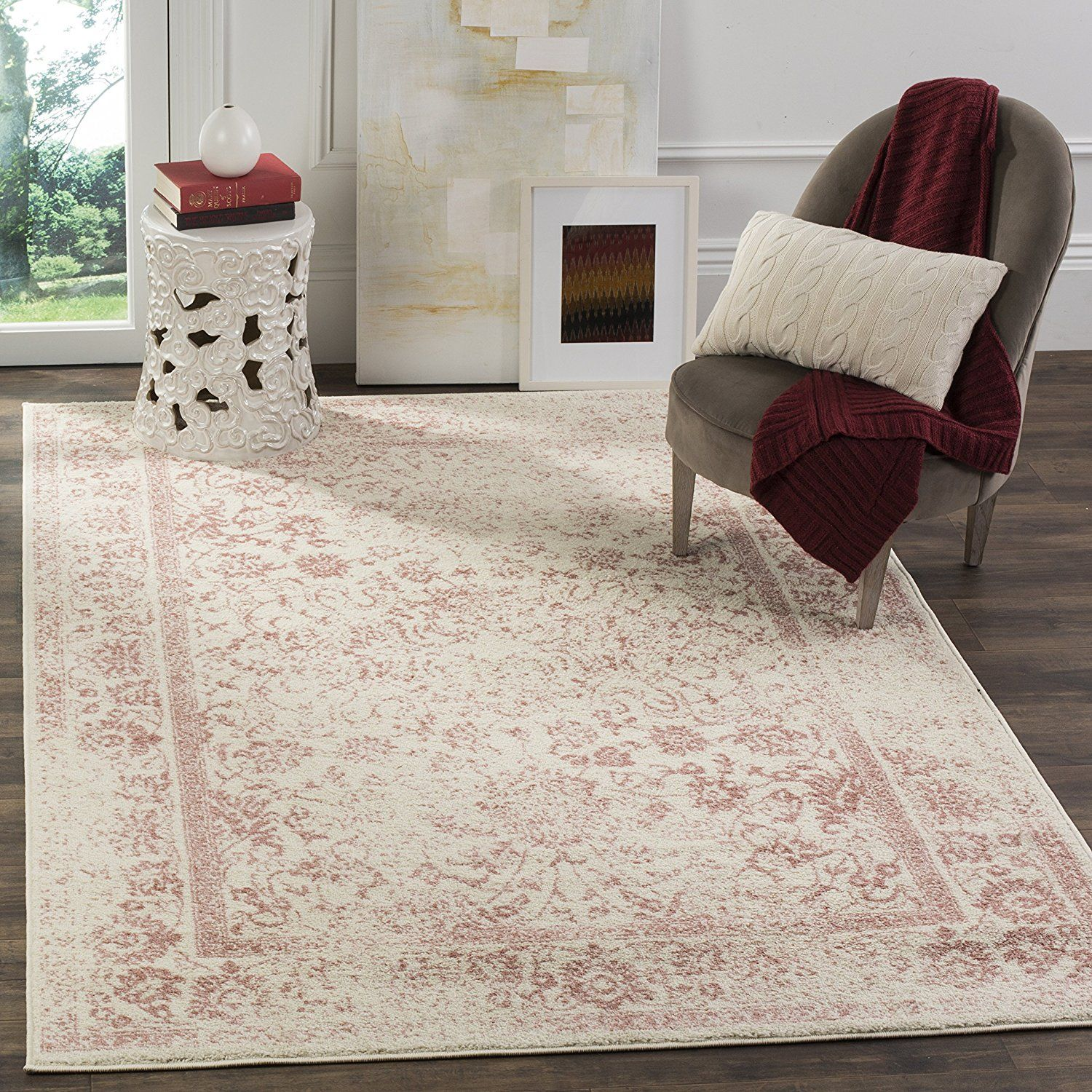 amazoncom safavieh adirondack collection adr109a grey and blue oriental vintage distressed area rug