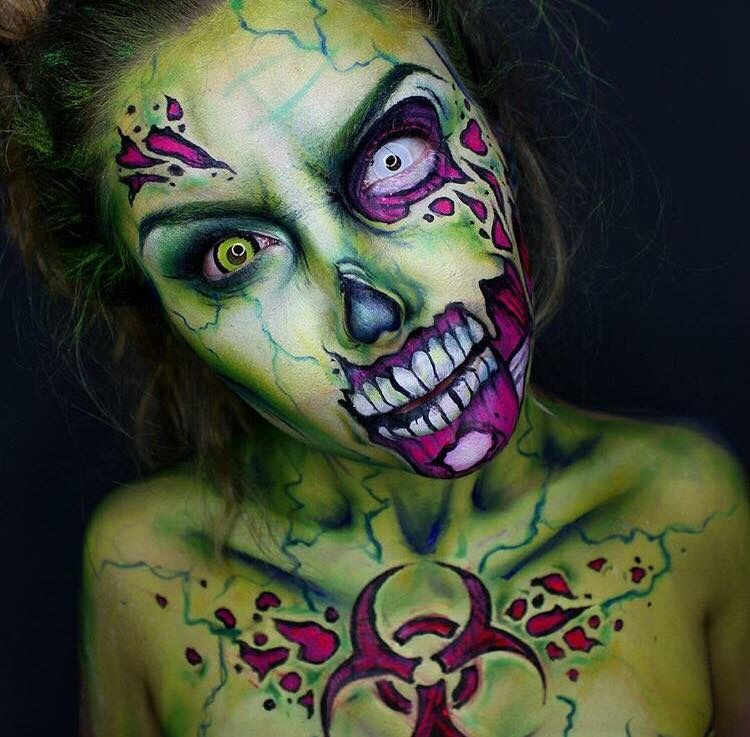 Pin by Pooki on Face paint Pinterest Halloween makeup, Makeup - zombie halloween ideas