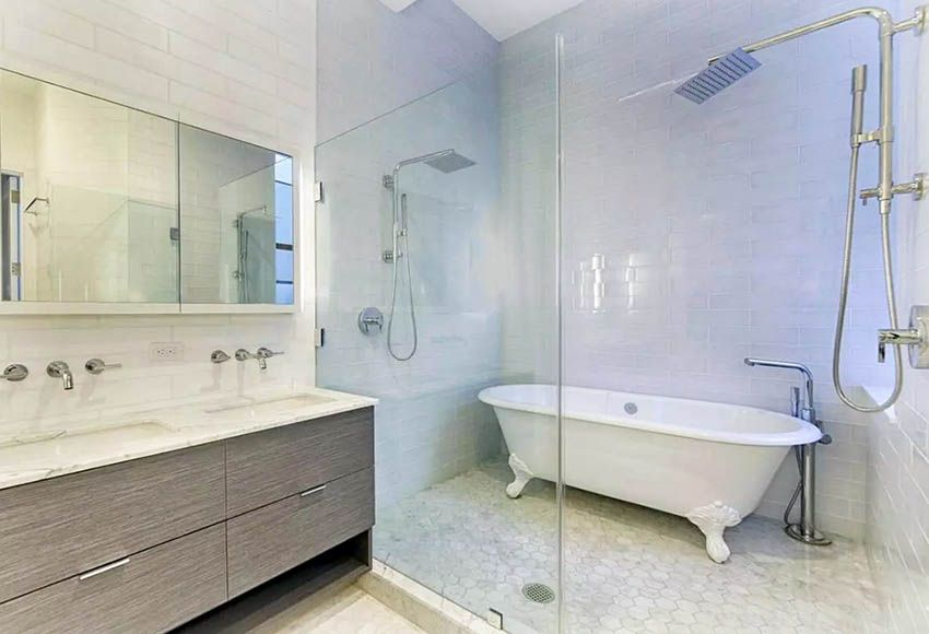 Tub Inside Shower Design Ideas With Images Walk In Shower