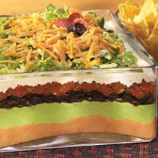 Seven Layer Taco Dip Recipe Yummly Recipe Ranch Salad Recipes Recipes Mexican Food Recipes