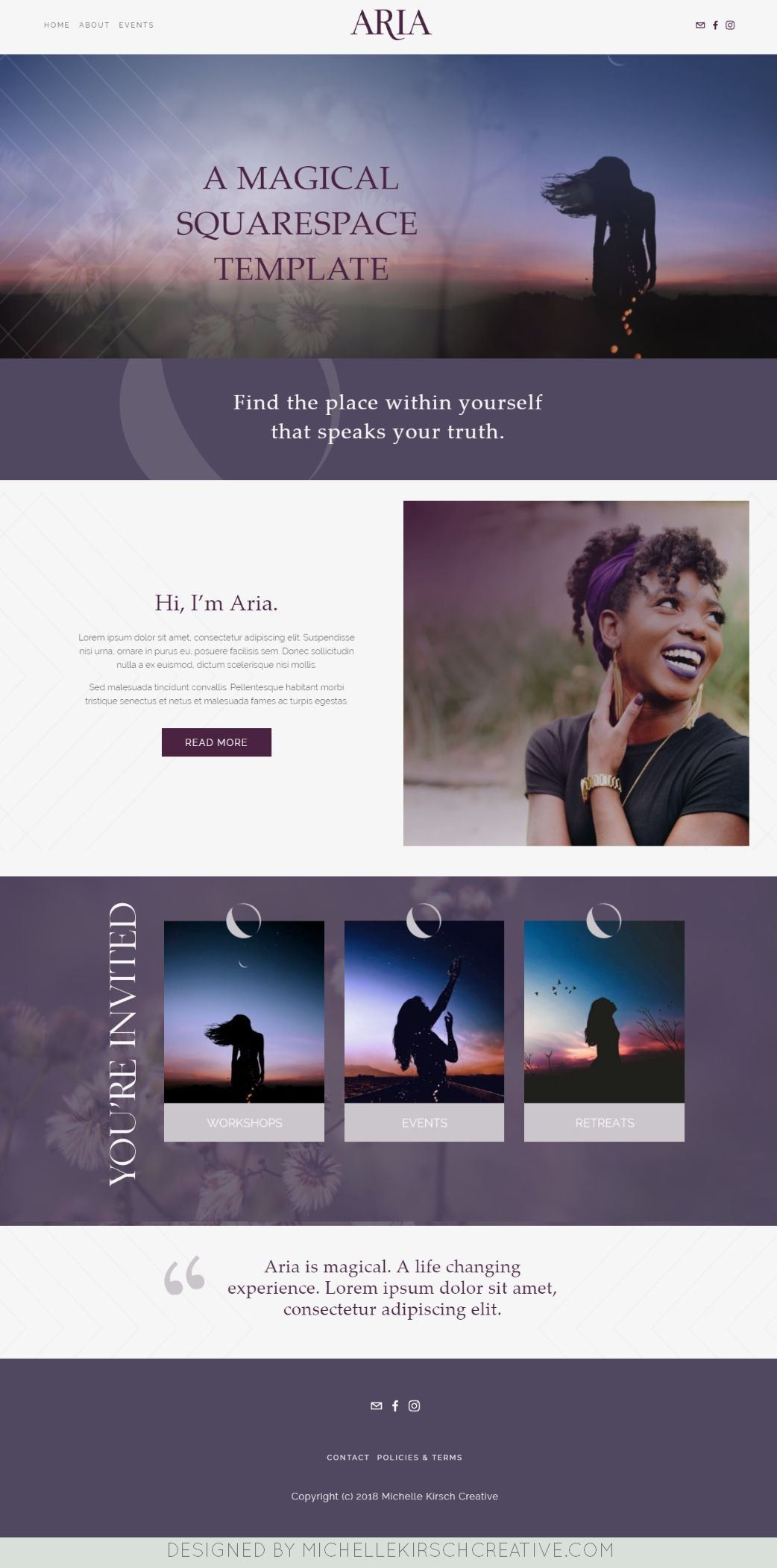 Homepage Layout Design On The Brine Template Squarespace Homepagedesign Websiteinspiration Mini Blog Design Inspiration Web Design Color Homepage Design