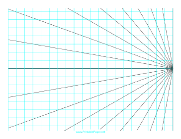 This Perspective Grid Paper Is Formatted With One Point At The