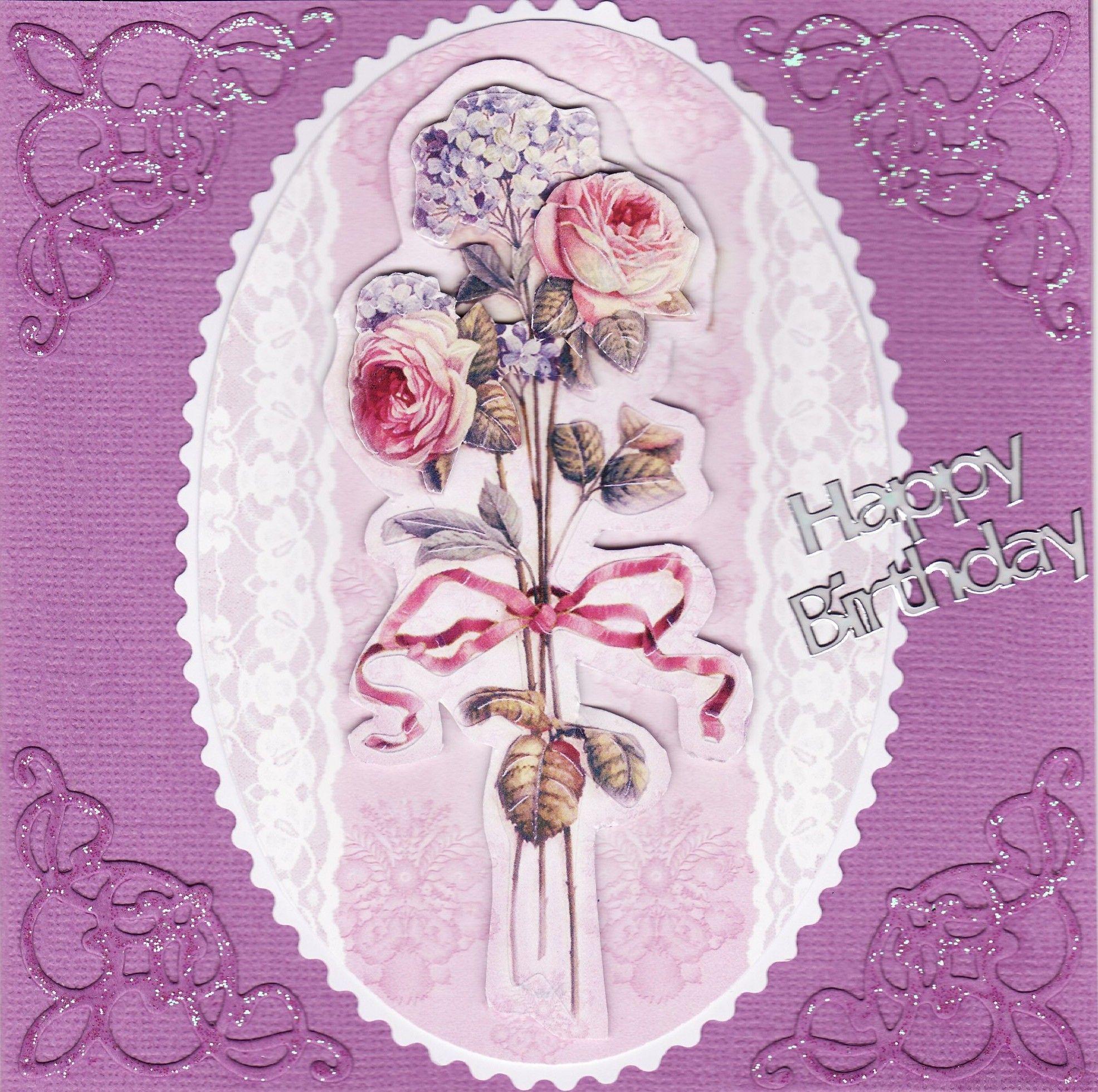 3d floral bouquet birthday card by tassie scrapangel