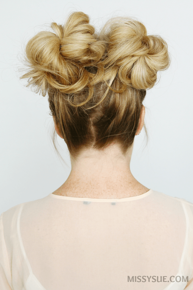 Double High Buns Tutorial Bun Hairstyles Bun Hairstyles For Long Hair Thick Hair Styles