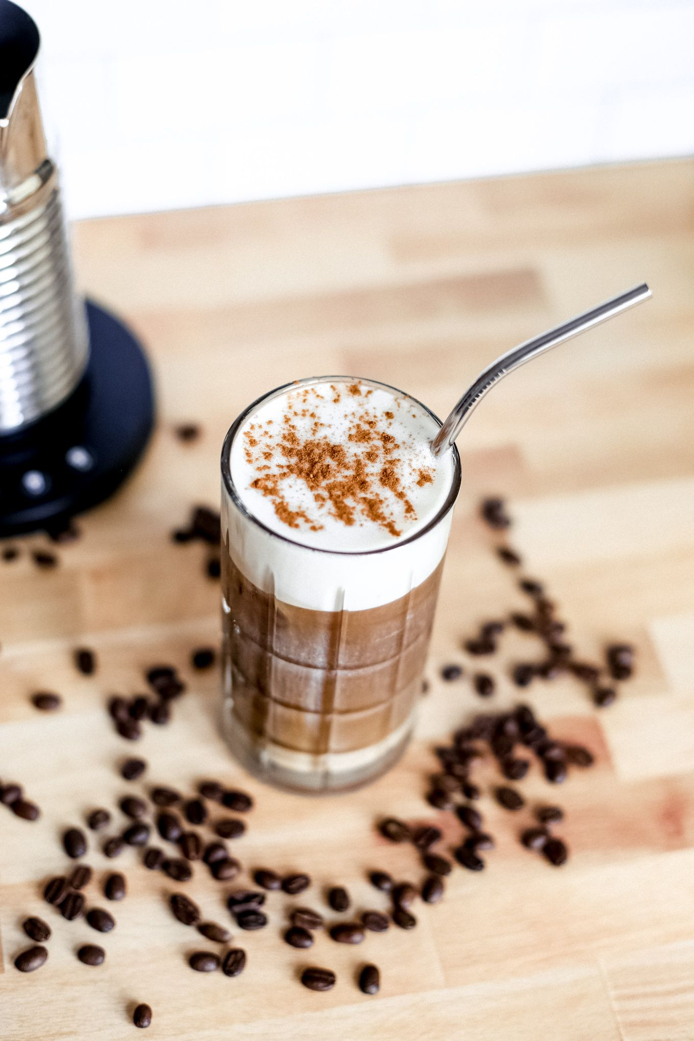 How to make iced latte with images iced latte