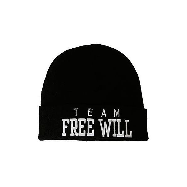 6d7aeea723ed0 Supernatural Team Free Will Watchman Beanie Hot Topic (£7.44) ❤ liked on  Polyvore featuring accessories