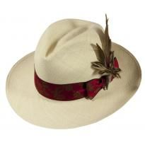 Wilde Natural with Feather Pin and Luxury Silk Ribbon, £148.50, #Pachacuti.