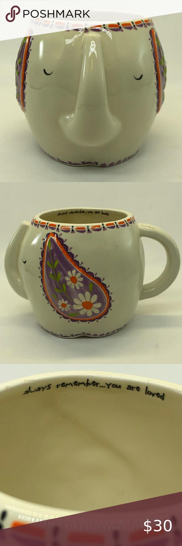 Natural Life Elephant Folk Art Ceramic Mug 16 Oz In 2020 Ceramic Mug Mugs Natural Life