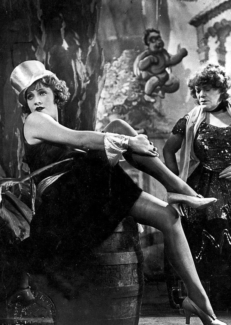 """Scene from """"The Blue Angel"""", with Marlene Dietrich. (1930)"""