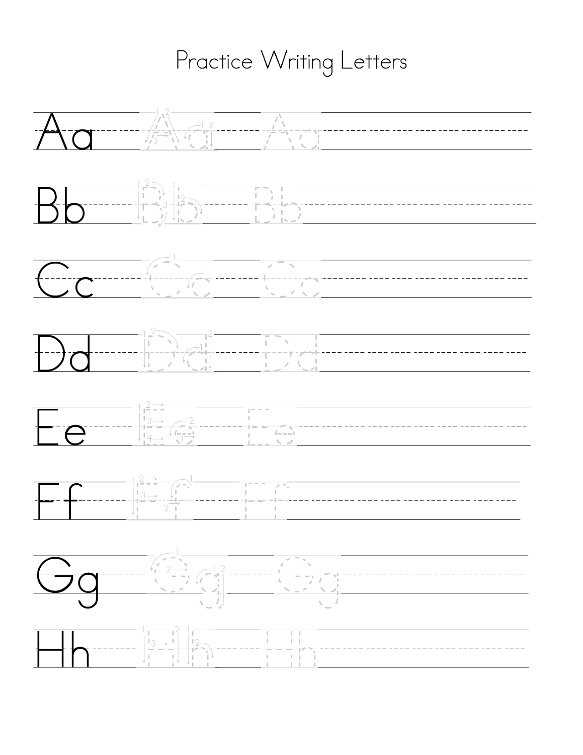 how to write abc letters pdf