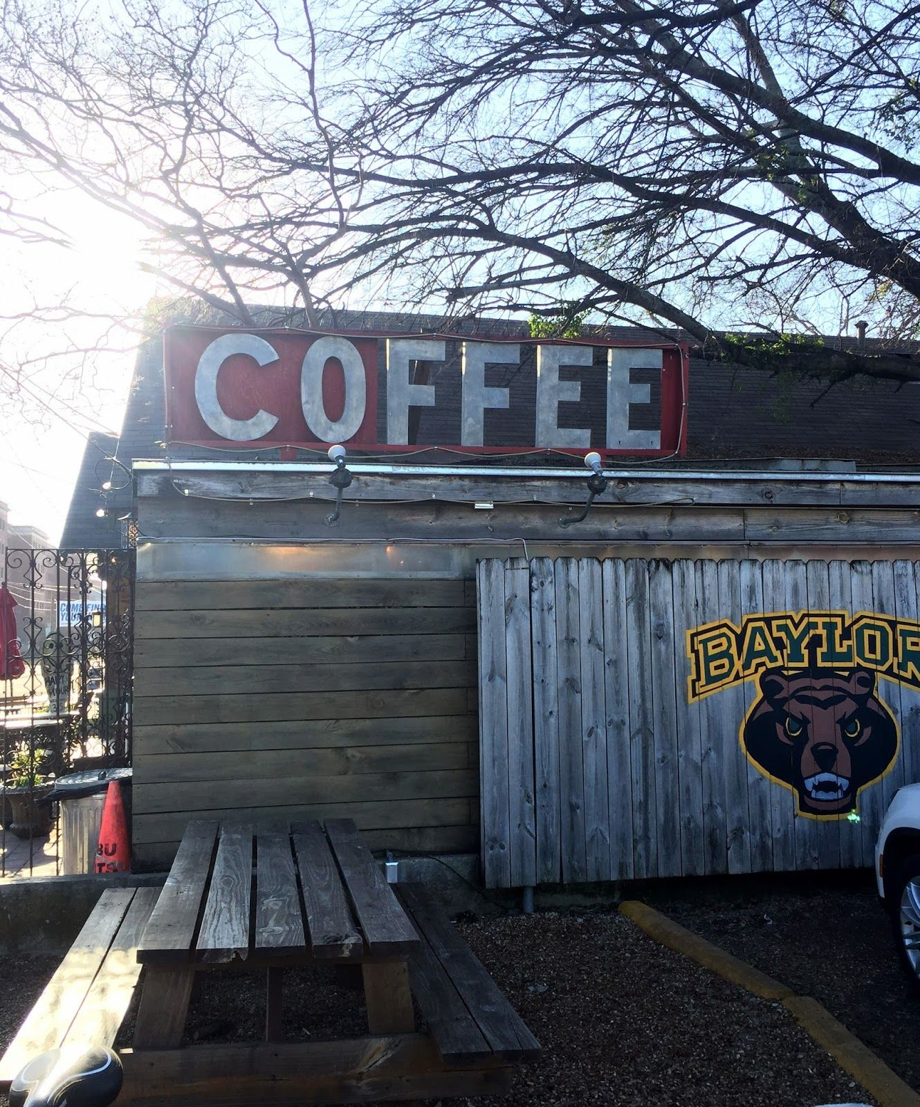common grounds coffee on baylor university campus in waco, texas