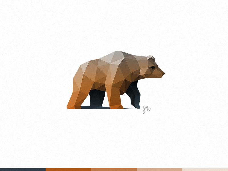 Bear Logo Design Bear Logo Design Animal Logo Polygon Art