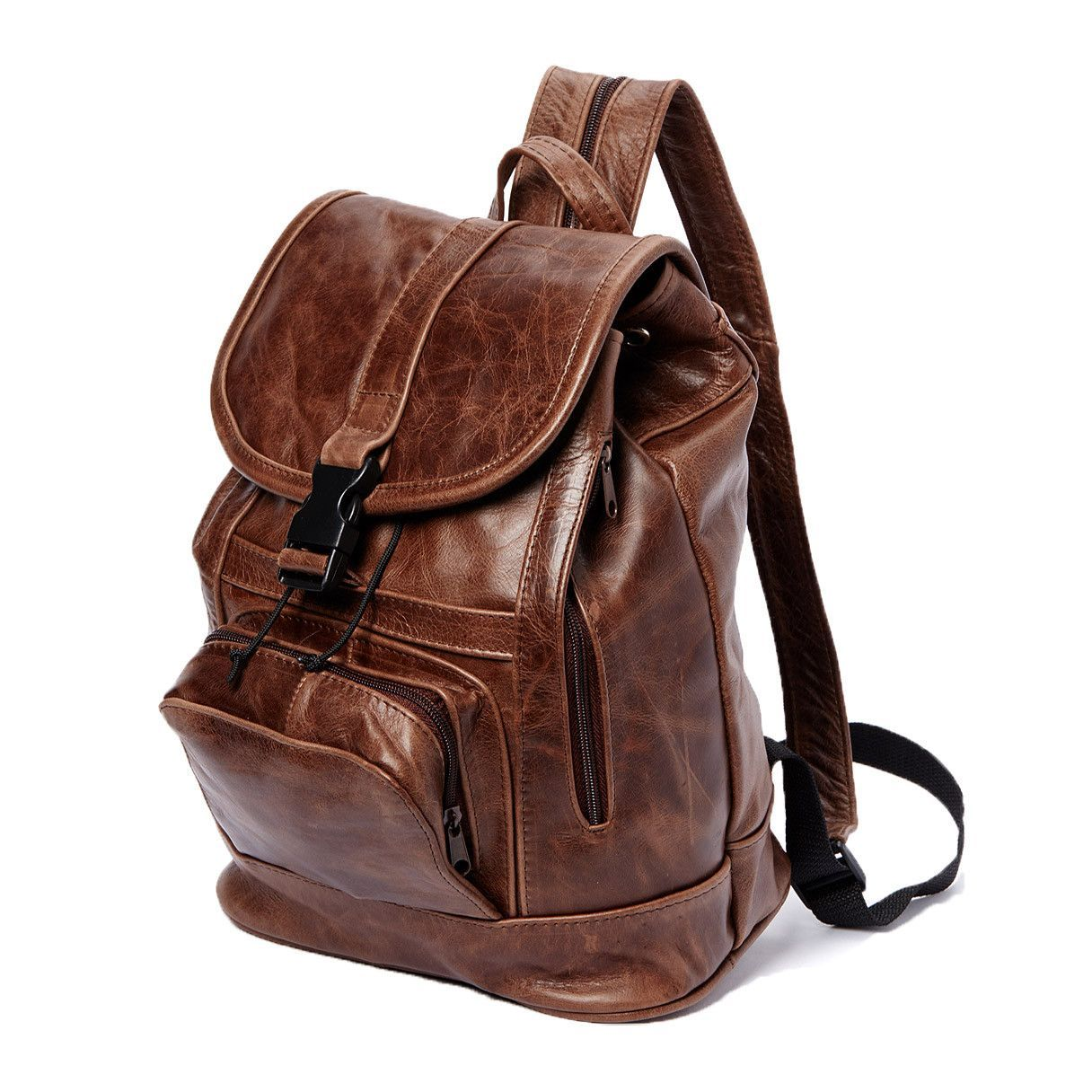 AFONiE Genuine Leather Backpack with Convertible Strap Super Soft ...