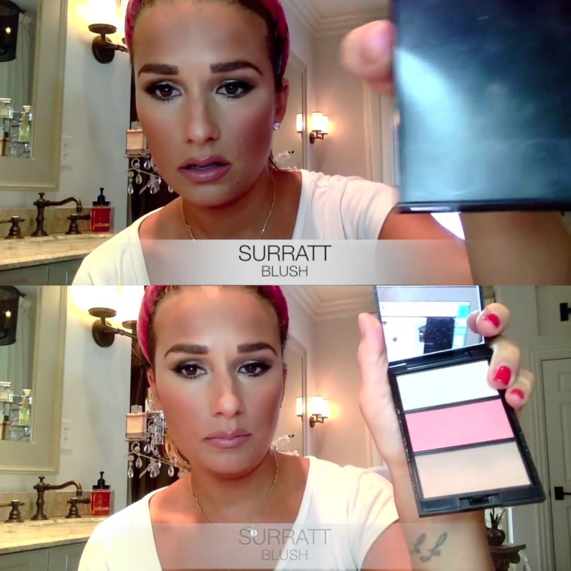 Kittenish makeup tutorial— Surratt Blush Jessie James
