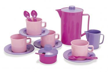 Kaffeeservice pink im Netz 17teilig Dantoy