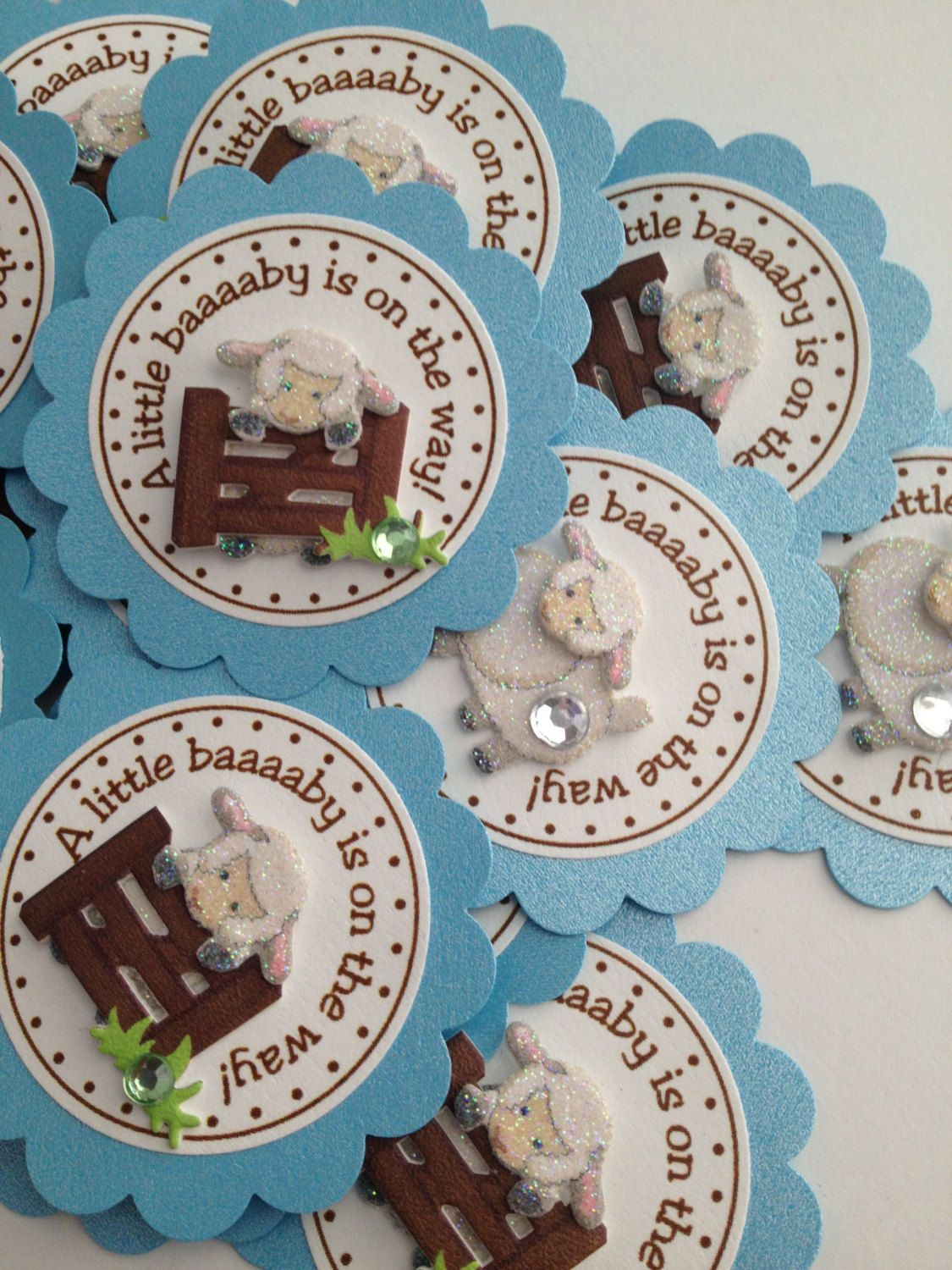 Little Lamb Favor Tags Baby Shower Baptism Birthday