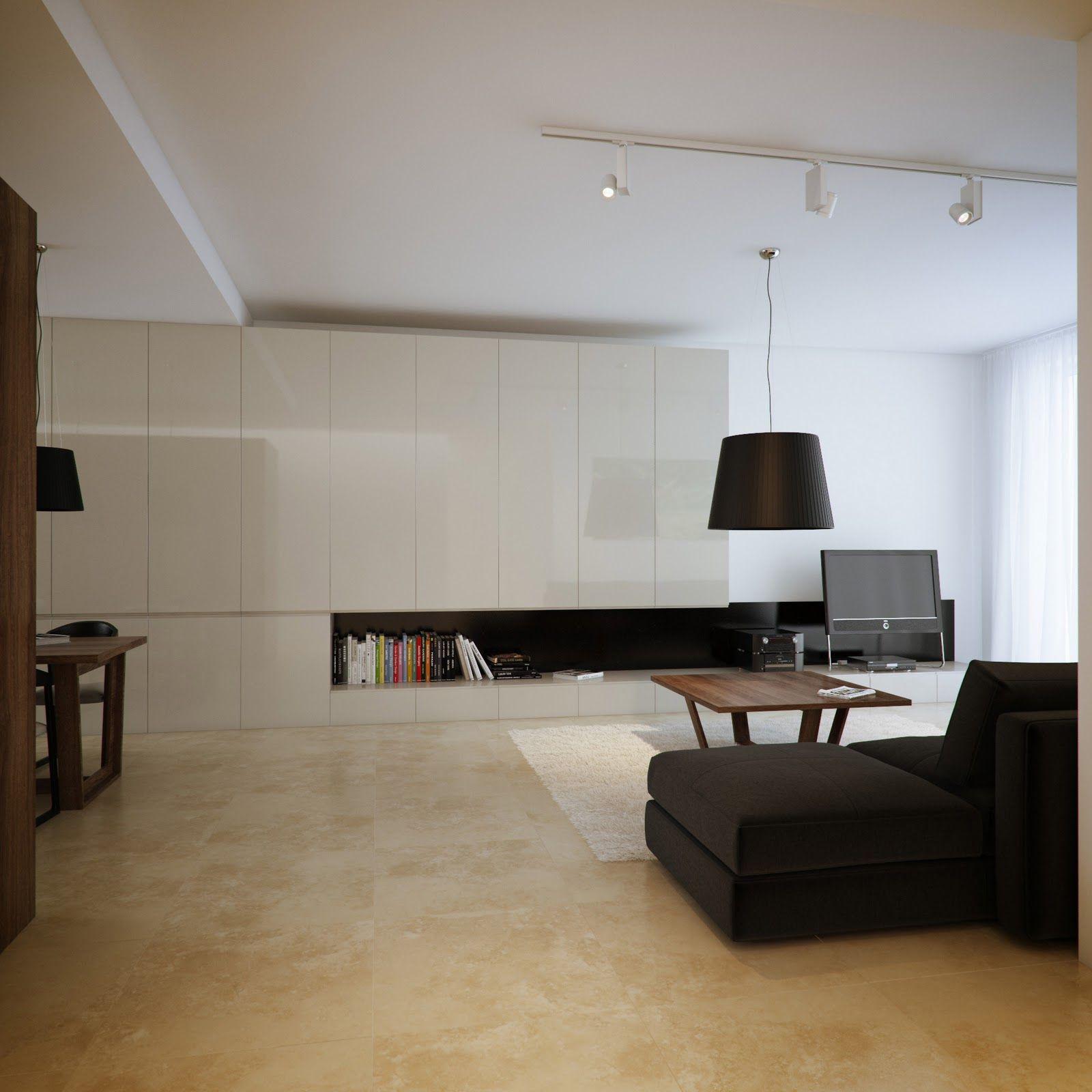 Modern Minimalist Black and White Lofts Floor decor