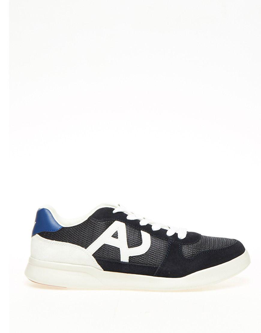 stijlvolle Armani Jeans Heren sneakers  (Blauw)