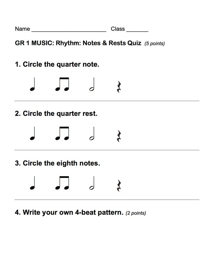 1st Grade Rhythm Assessments This Is A Good Practice For Students