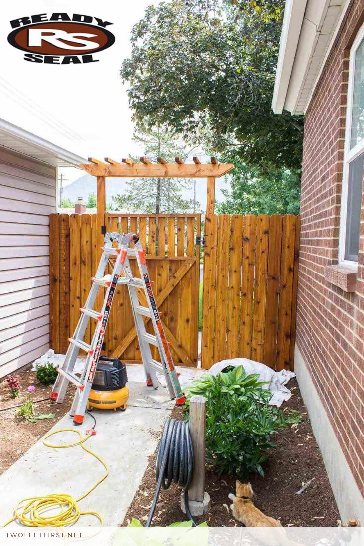 Staining A Fence Aka Waterproofing Cedar Fence Stain Staining Wood Fence Staining Cedar Wood
