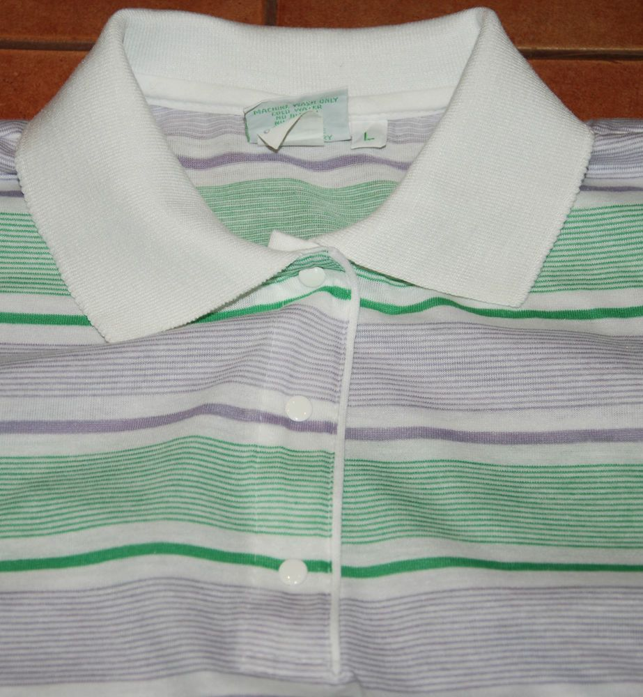 Vintage lylis of beverly hills polo shirt tennis short sleeve white