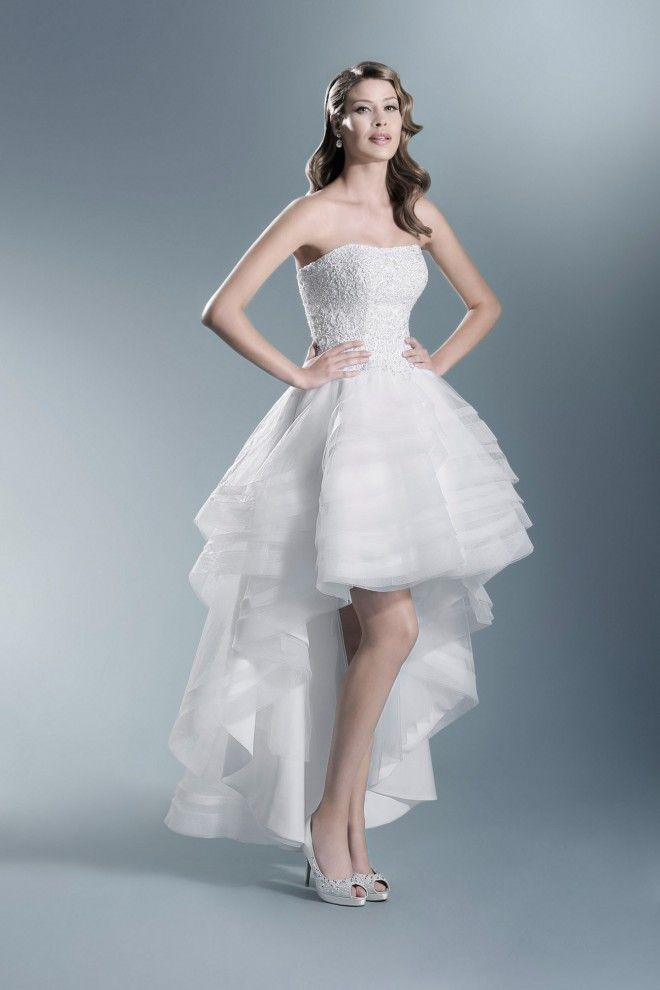 TO-650T | Bridal Gown--High-Low | Pinterest | High low wedding ...