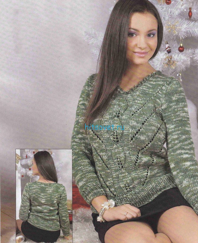 Вязание меланжевой кофточки - ХитсоветХитсовет