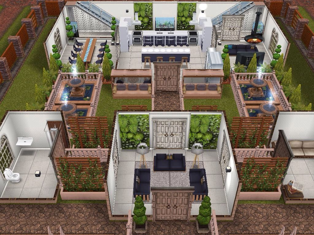 house 24 ground level sims simsfreeplay simshousedesign. Black Bedroom Furniture Sets. Home Design Ideas
