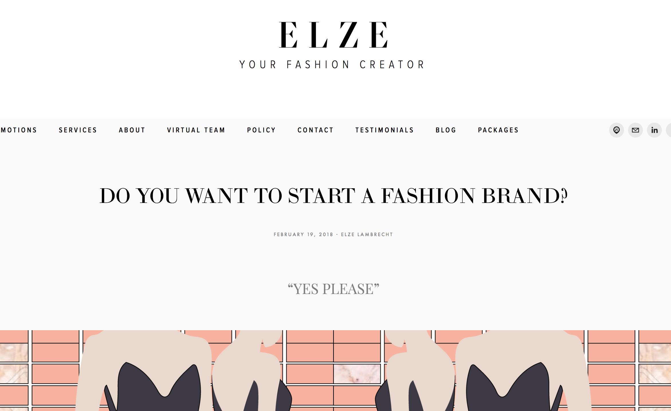 FASHION COACHING BLOG E L Z E creation blog fashion creative