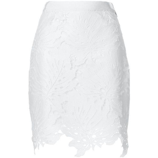 Red macramé lace skirt Msgm Cheap Price Original kdgfn