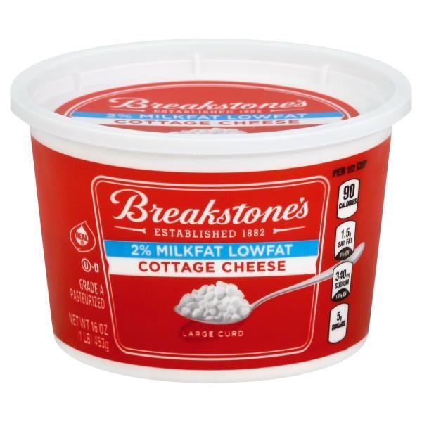 Breakstones Cottage Cheese Large Curd 2 Milkfat Lowfat Breakstone Cottage Cheese Cottage Cheese Cheese