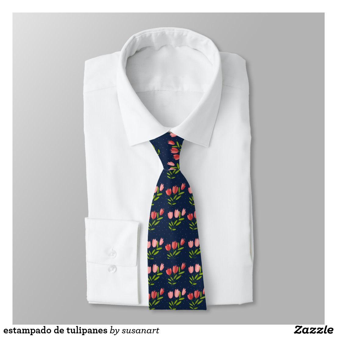 Corbata estampado de tulipanes | Zazzle.es | Corbatas