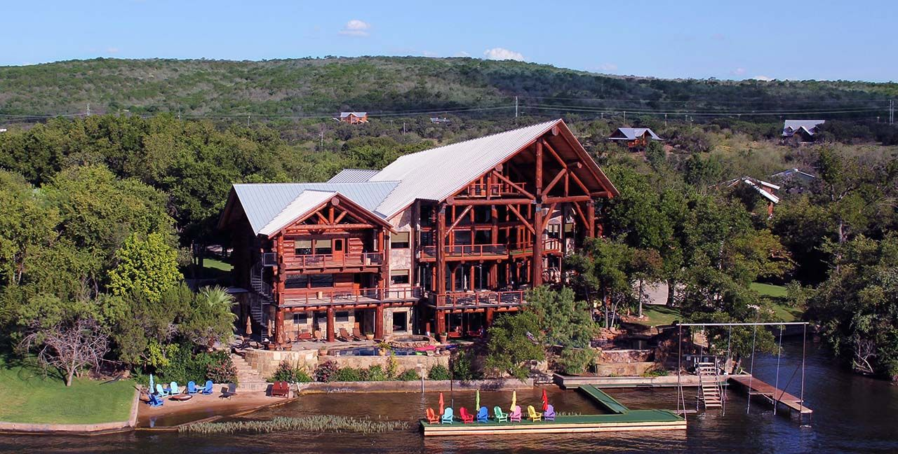 texas lake country cove cabin rent pin rental vacation log cabins in homes