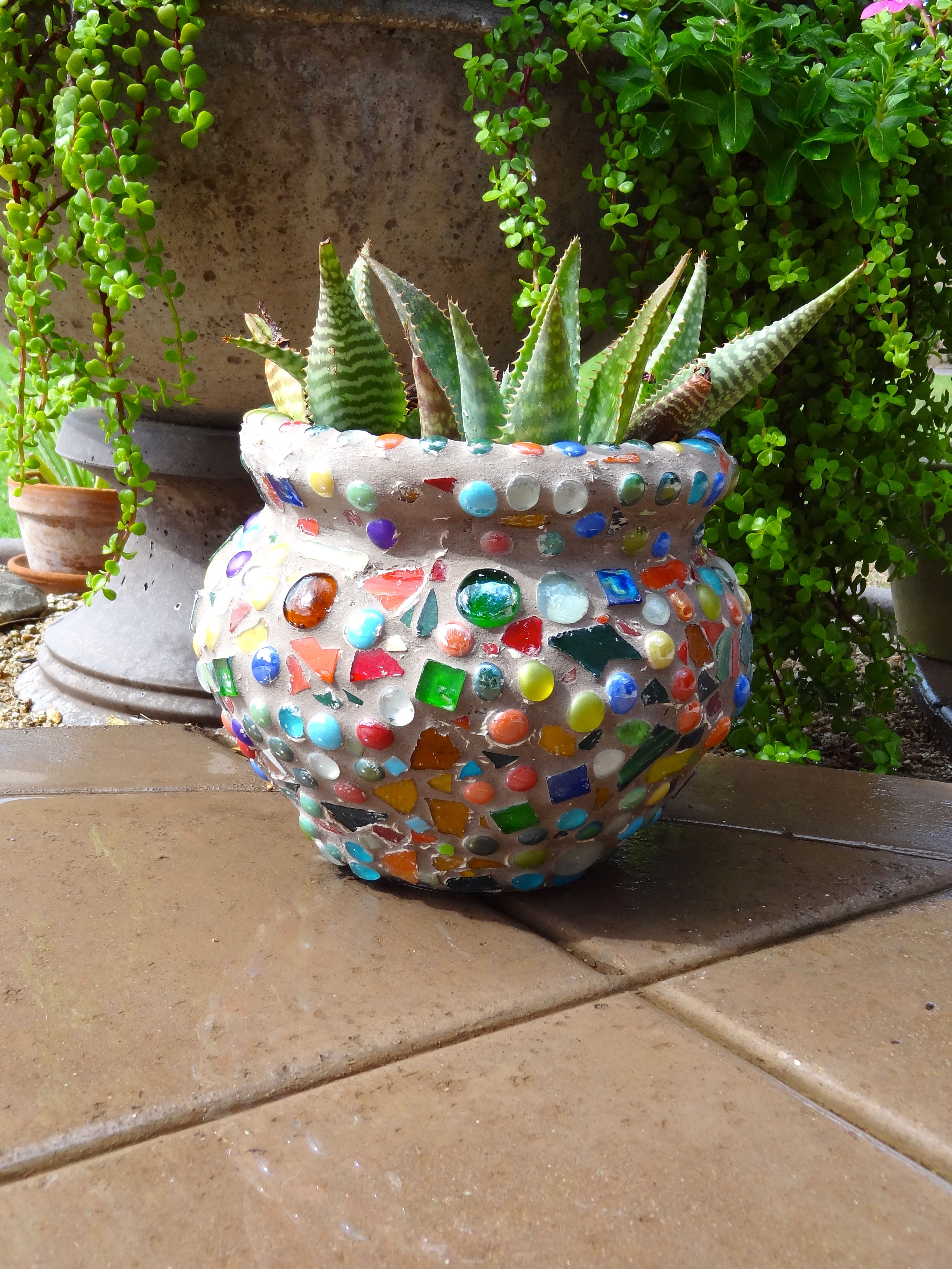And If The 2nd Graders Can Do It Maybe I Grade Outdoor Mosaic Pot