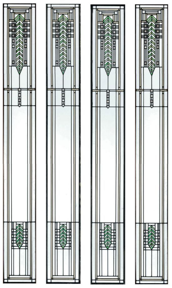 Frank lloyd wright giannini hilgart design 1902 stained glass windows for brinsmaid house - Frank lloyd wright designs ...