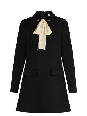 Tie-neck cady dress | REDValentino | MATCHESFASHION.COM