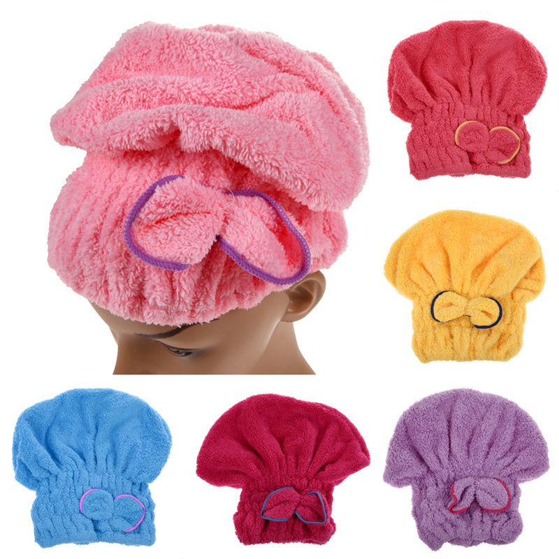 1pcs Home Textile Microfiber Solid Hair Turban Quickly Dry Hair Hat