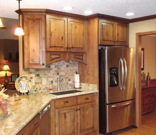 Knotted Oak Kitchen Cabinets: Hanover Door Style In Rustic Alder Finished In